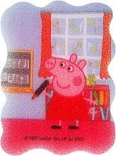 Parfums et Produits cosmétiques Éponge de bain pour enfants, Peppa le cochon, Peppa à l'école - Suavipiel Peppa Pig Bath Sponge