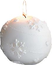 Parfums et Produits cosmétiques Bougie décorative, boule, blanc, 8 cm - Artman Snowflake Application