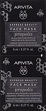Parfums et Produits cosmétiques Masque noir à la propolis pour visage - Apivita Express Beauty Purifying & Oil-Balancing Propolis Black Face Mask