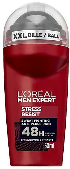 Déodorant roll-on - L'Oreal Paris Men Expert Stress Resist 48H Anti-Perspirant Deo Roll-On