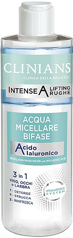 Eau micellaire bi-phasée à l'acide hyaluronique - Clinians Intense A Micellar Bi-Phase Water 3in1 With Hyaluronic Acid