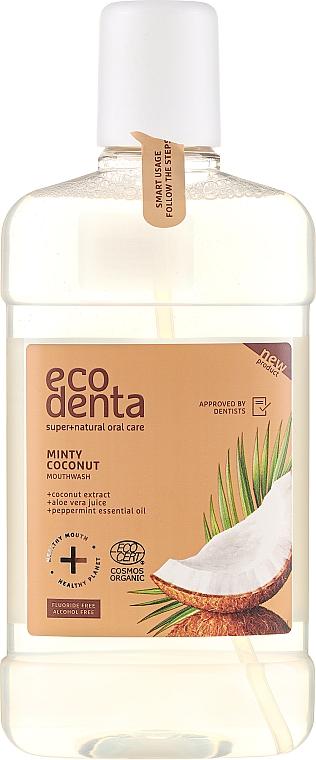 Bain de bouche à la menthe et noix de coco - Ecodenta Cosmos Organic Minty Coconut