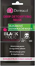Parfums et Produits cosmétiques Masque tissu détoxifiant régulateur de sébum visage - Dermacol Black Magic Detox Sheet Mask