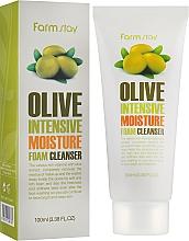 Parfums et Produits cosmétiques Mousse nettoyante à l'extrait d'olive pour visage - FarmStay Olive Intensive Moisture Foam Cleanser