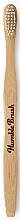 Parfums et Produits cosmétiques Brosse à dents en bambou, souple, blanc - Humble Brush