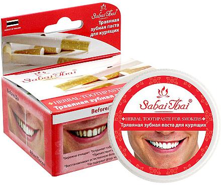 Dentifrice pour fumeurs - Sabai Thai Herbal Toothpaste for Smokers