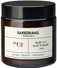 Parfums et Produits cosmétiques Argile coiffante , effet mat - Barberians. №C2 Hair Clay Matt Pomade