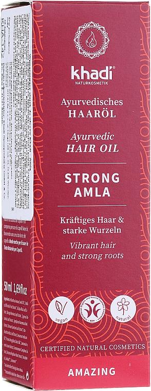 Huile régénérante à l'huile d'amande douce pour cheveux - Khadi Ayuverdic Strong Amla Hair Oil