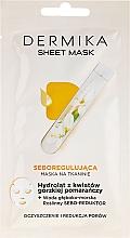 Parfums et Produits cosmétiques Masque tissu séborégulateur à l'hydrolat d'orange amère pour visage - Dermika Sheet Mask