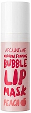 Parfums et Produits cosmétiques Masque à bulles à l'huile de pêche pour lèvres - Welcos Natural Foaming Bubble Lip Mask Peach