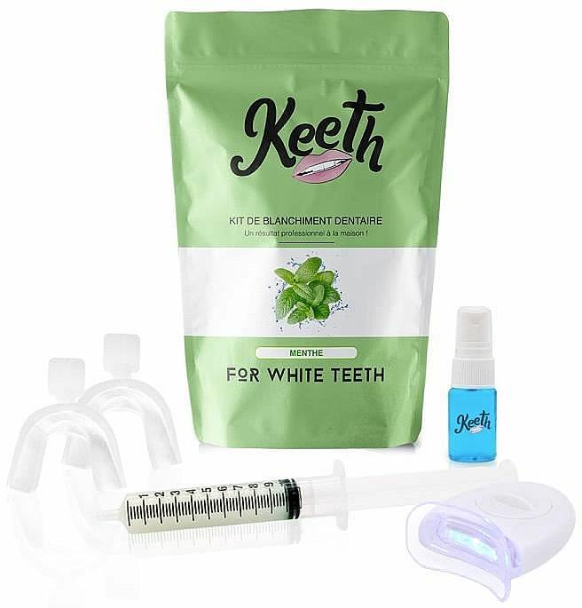 Kit de blanchiment dentaire, Menthe - Keeth Mint Teeth Whitening Kit