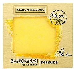 Parfums et Produits cosmétiques Shampooing et après-shampooing solide au miel de Manuka - Stara Mydlarnia Manuka 2in1 Shampoo Bar