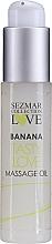 Parfums et Produits cosmétiques Huile de massage intime, Banane (mini) - Sezmar Collection Love Banana Tasty Love Massage Oil