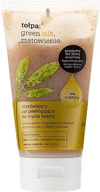 Gel exfoliant à l'huile de zeste de citron pour visage - Tolpa Green Oils