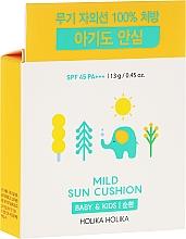 Parfums et Produits cosmétiques Écran solaire compact avec coussin SPF 45 - Holika Holika Mild Sun Cushion SPF45