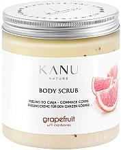 Parfums et Produits cosmétiques Gommage pour corps Pamplemousse - Kanu Nature Grapefruit With Cranberry Body Scrub