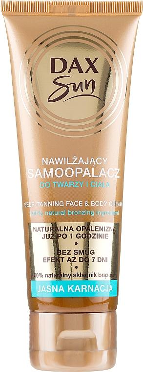 Autobronzant au béta-carotène pour visage et corps - DAX Sun Extra Bronze Self-Tanning Cream