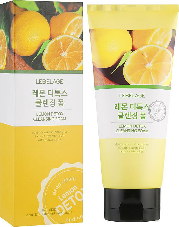 Mousse nettoyante à l'extrait de citron pour visage - Lebelage Lemon Detox Cleansing Foam — Photo N1