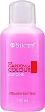 Parfums et Produits cosmétiques Dissolvant Fraise - Silcare The Garden Of Colour Aceton Strawberry Pink
