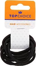 Parfums et Produits cosmétiques Lot de 10 élastiques à cheveux 66214, noirs - Top Choice