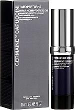 Parfums et Produits cosmétiques Sérum de nuit à l'acide hyaluronique pour contour des yeux - Germaine de Capuccini Timexpert SRNS Repair Night Progress Eye