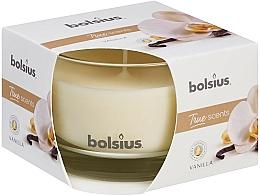 Parfums et Produits cosmétiques Bougie parfumée en verre, Vanille, 63/90 mm - Bolsius True Scents Candle