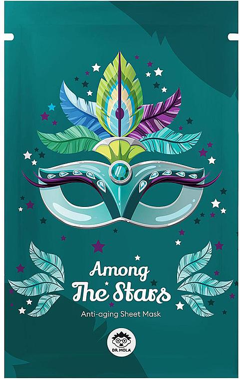 Masque tissu à l'extrait de raisin noir pour visage - Dr Mola Among The Stars Anti-Aging Mask