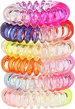 Parfums et Produits cosmétiques Élastiques à cheveux style câble de téléphone en plastique, 22562 Wire 6 pcs - Top Choice