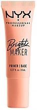 Parfums et Produits cosmétiques Base pour visage - NYX Professional Bright Maker Brightening Primer (mini)