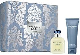 Parfums et Produits cosmétiques Dolce & Gabbana Light Blue Pour Homme - Coffret (eau de toilette/75ml + baume après-rasage/75ml)