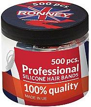 Parfums et Produits cosmétiques Élastiques à cheveux en silicone, noirs - Ronney Professional Silicone Hair Bands