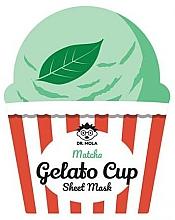Parfums et Produits cosmétiques Masque tissu à l'extrait de thé vert pour visage - Dr. Mola Matcha Gelato Cup Sheet Mask