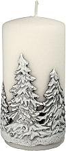 Parfums et Produits cosmétiques Bougie décorative, Sapins de Noël, blanc, 7x14 cm - Artman Christmas Tree Candle