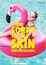 Parfums et Produits cosmétiques Masque tissu à l'extrait de cacao et onagre pour visage - Ultru I'm Sorry For My Skin S.O.S Jelly Mask Soothing