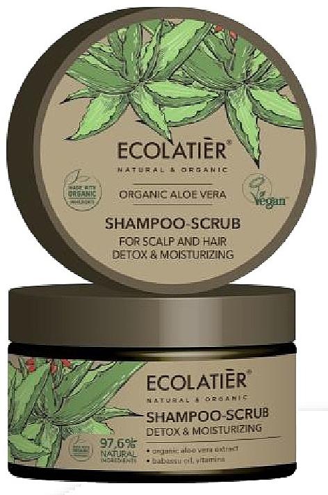 Shampooing-gommage à l'aloe vera pour cheveux et cuir chevelu - Ecolatier Organic Aloe Vera Shampoo-Scrub