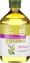 Parfums et Produits cosmétiques Shampooing apaisant pour cuir chevelu sensible à l'extrait de réglisse - O'Herbal