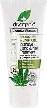 Parfums et Produits cosmétiques Crème à l'huile de chanvre pour mains et ongles - Dr. Organic Hemp Oil Intensive Hand & Nail Treatment