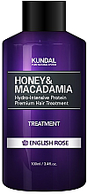 "Parfums et Produits cosmétiques Après-shampooing hydratant intense ""Rose anglaise"" - Kundal Honey & Macadamia Treatment English Rose"