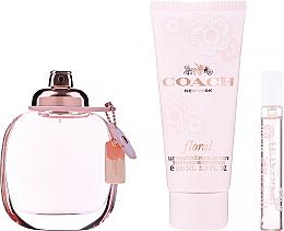Parfums et Produits cosmétiques Coach Coach Floral - Coffret cadeau (eau de parfum/90ml + eau de parfum/7.5ml + lait corps/100ml)
