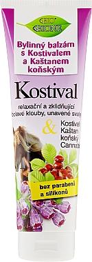 Baume à l'huile de châtaigne,consoude et chanvre pour pieds - Bione Cosmetics Cannabis Kostival Herbal Ointment with Horse Chestnut