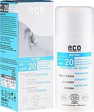 Parfums et Produits cosmétiques Lotion solaire sans parfum pour peaux très sensibles - Eco Cosmetics Sun Lotion SPF 20