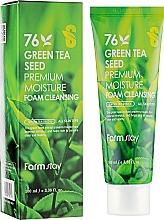 Parfums et Produits cosmétiques Mousse nettoyante à l'extrait de graines de thé vert pour visage - FarmStay Green Tea Seed Premium Moisture Foam Cleansing