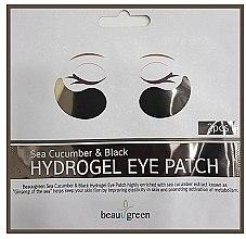 Parfums et Produits cosmétiques BeauuGreen Sea Cucumber Black - Patchs hydrogel aux extrait de concombre de mer pour contour des yeux