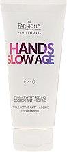 Parfums et Produits cosmétiques Gommage triple-action anti-âge pour mains - Farmona Professional Hands Slow Age Triple Active Anti-ageing Hand Scrub