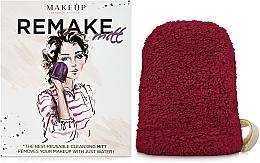 Parfums et Produits cosmétiques Gant démaquillant ReMake, bordeaux, 15x12cm - MakeUp