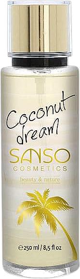 Brume parfumée pour corps, Rêve de noix de coco - Sanso Cosmetics Coconut Dream Body Spray