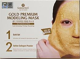 Parfums et Produits cosmétiques Masque peel-off l'huile de jojoba pour visage - Shangpree Gold Premium Plus Modeling Mask (gel/5x50g + powder/5x4,5g)