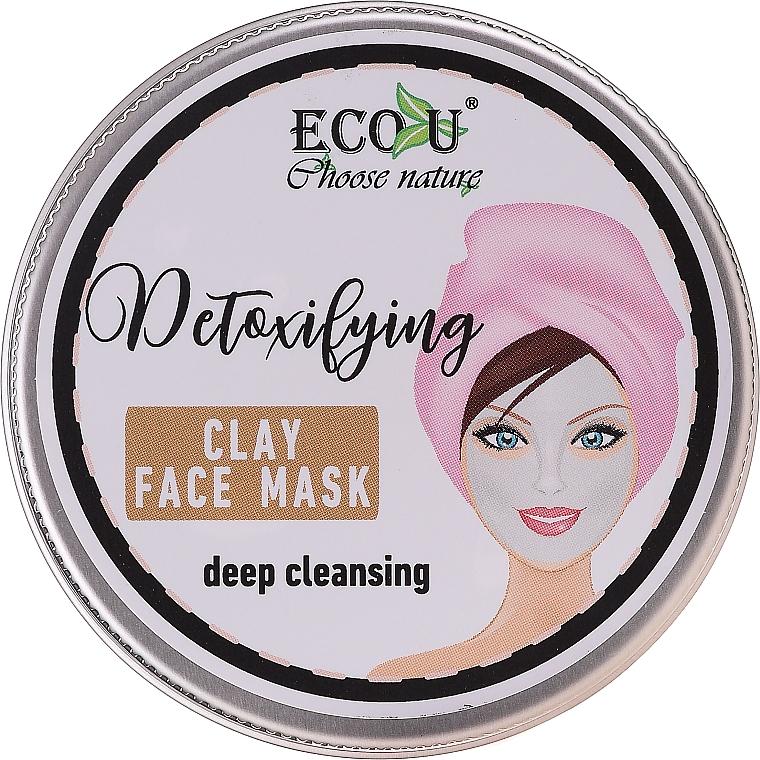 Masque d'argile détoxifiant à l'extrait de feuille de théier pour visage - Eco U Detoxifying Deep Cleansing Clay Face Mask