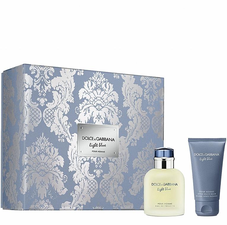 Dolce&Gabbana Light Blue Pour Homme - Coffret (eau de toilette/75ml + baume après-rasage/50ml)