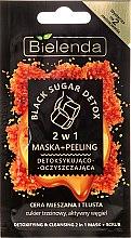 Parfums et Produits cosmétiques Masque détoxifiant et micro-exfoliant 2 en 1 pour peaux mixtes et grasses - Bielenda Black Sugar Detox (mini)